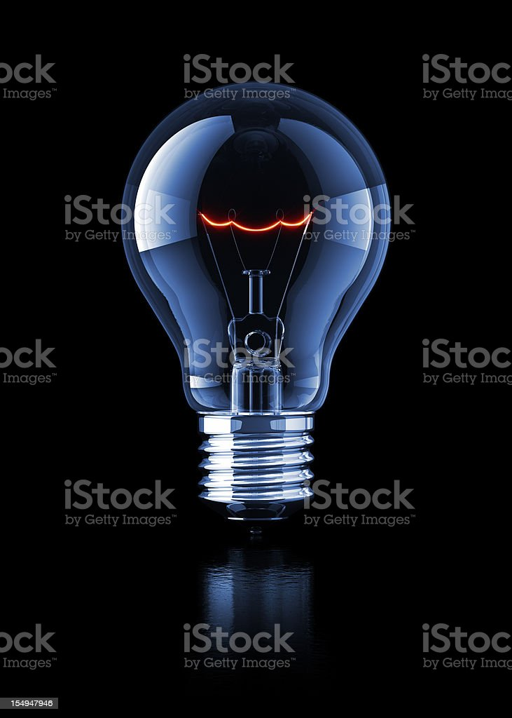Light Bulb on Black royalty-free stock photo