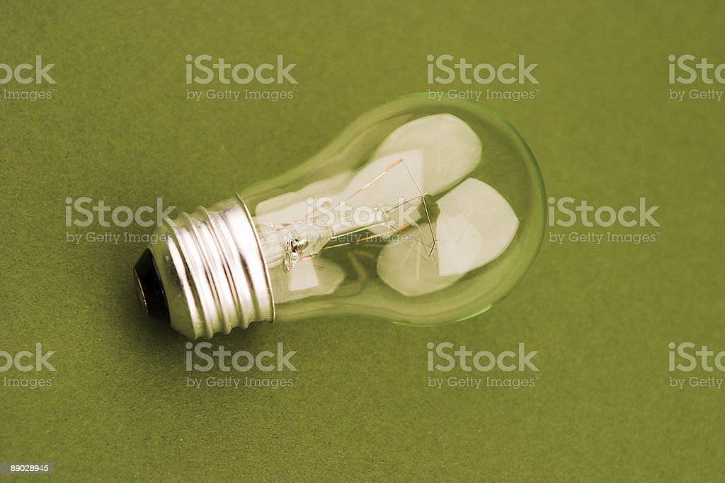 Light Bulb on Green royalty-free stock photo