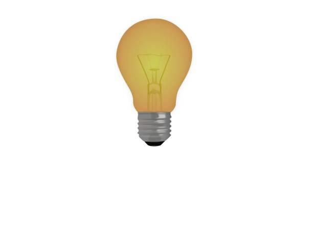 light bulb on white background - 3d rendering stock photo