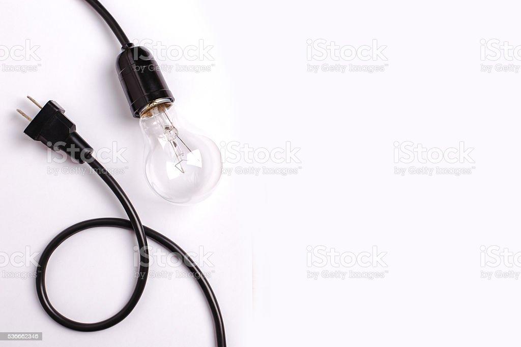 light bulb on white background stock photo