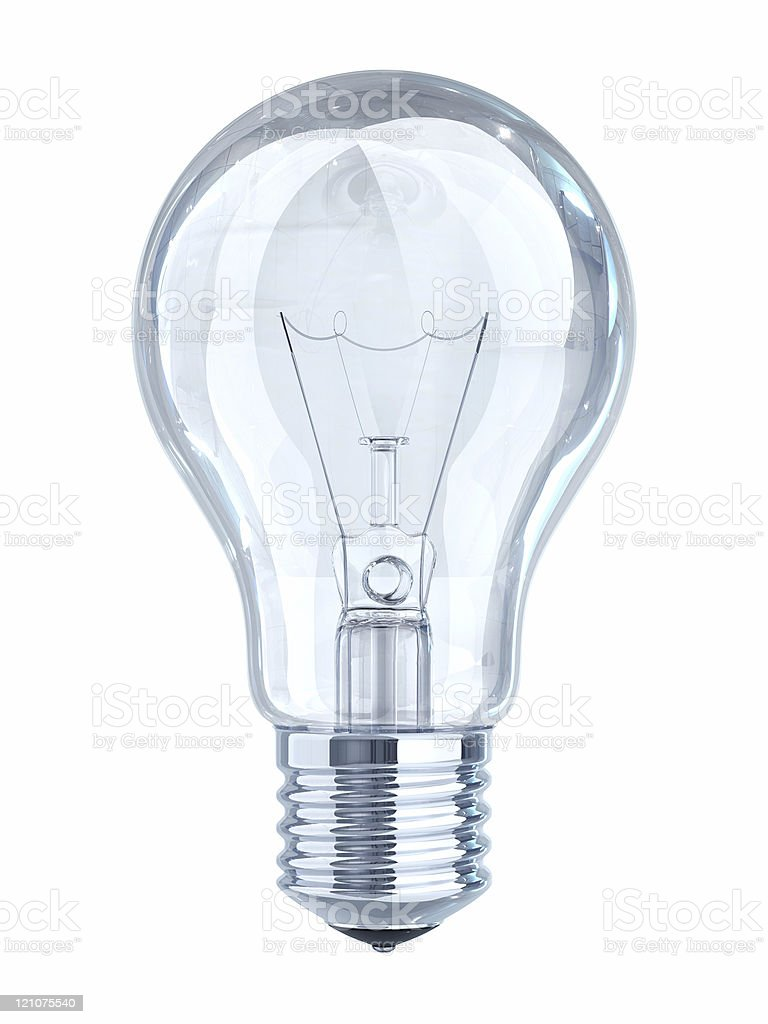 Light Bulb On White royalty-free stock photo