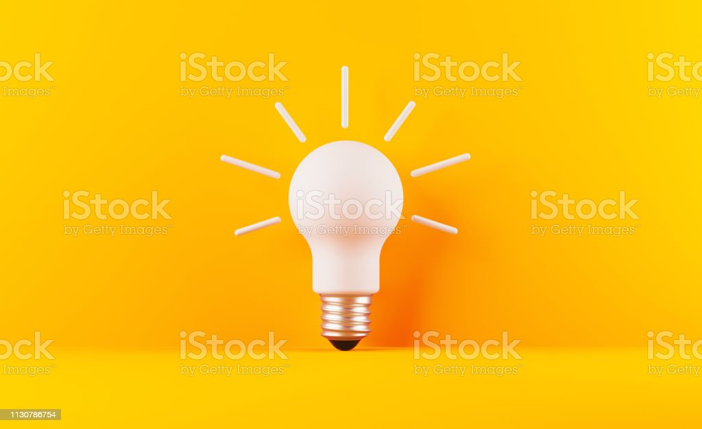 Glühbirne auf gelebenem Hintergrund - Lizenzfrei Abstrakt Stock-Foto