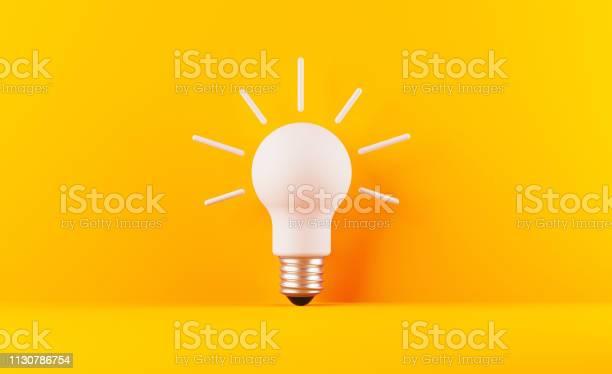 Light bulb on yellow background picture id1130786754?b=1&k=6&m=1130786754&s=612x612&h=qfkhfvm pky8k fvnxptwcyqy4v5mh mianybt8i ny=
