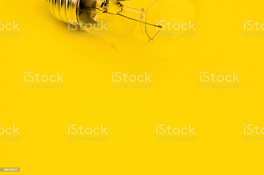 Light Bulb on Yellow royalty-free stock photo