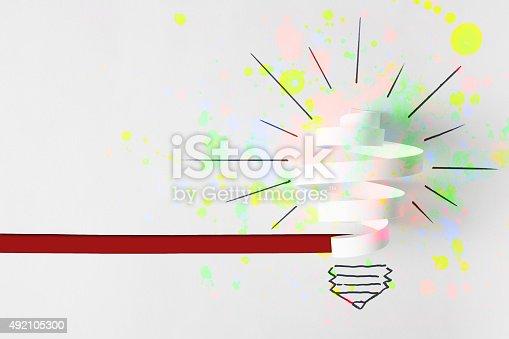 637797672istockphoto Light Bulb. Paper cut 492105300