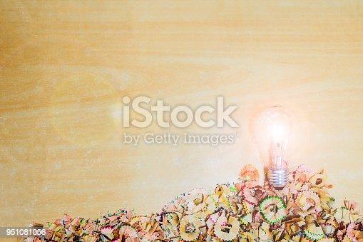 951081060 istock photo Light bulb Pencil shells 951081056