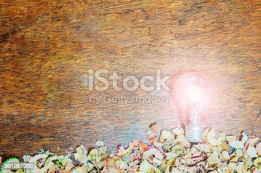 951081060 istock photo Light bulb Pencil shells 951081060