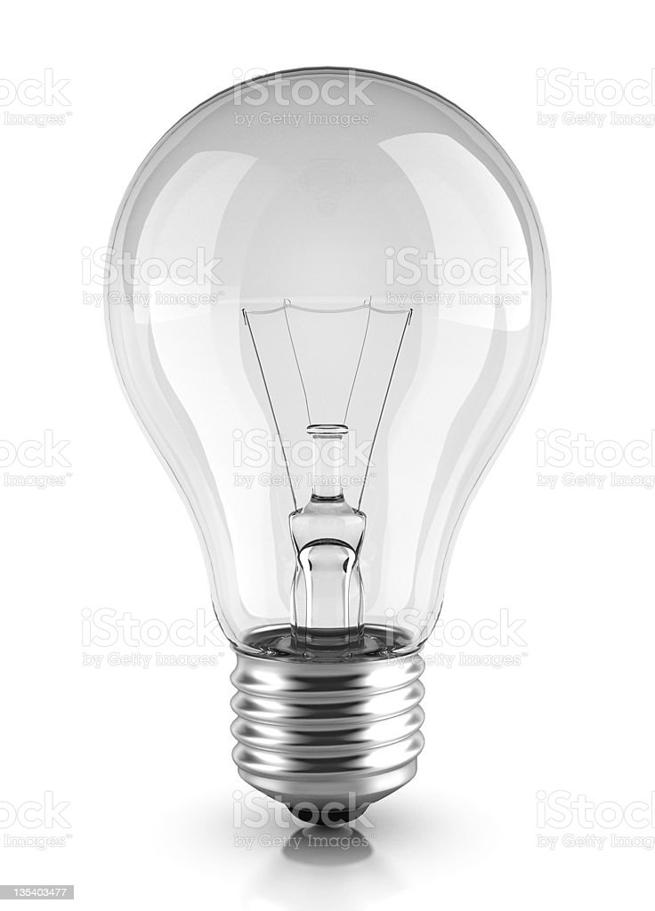 Light Bulb (clip path) stock photo