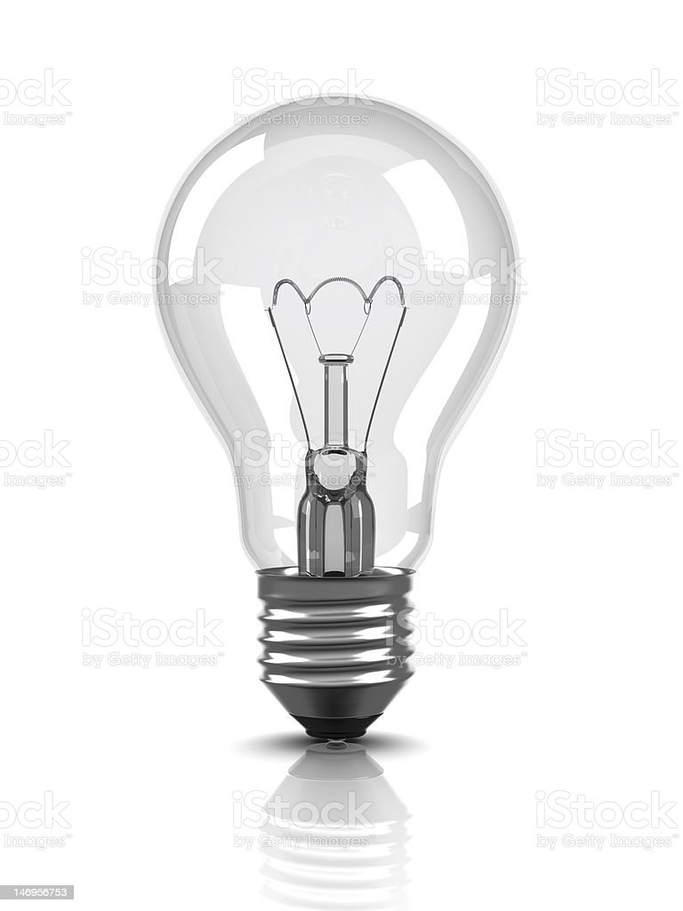 Light bulb (Isolated) royalty-free stock photo