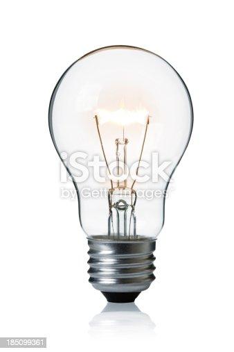 Light Bulb on white.