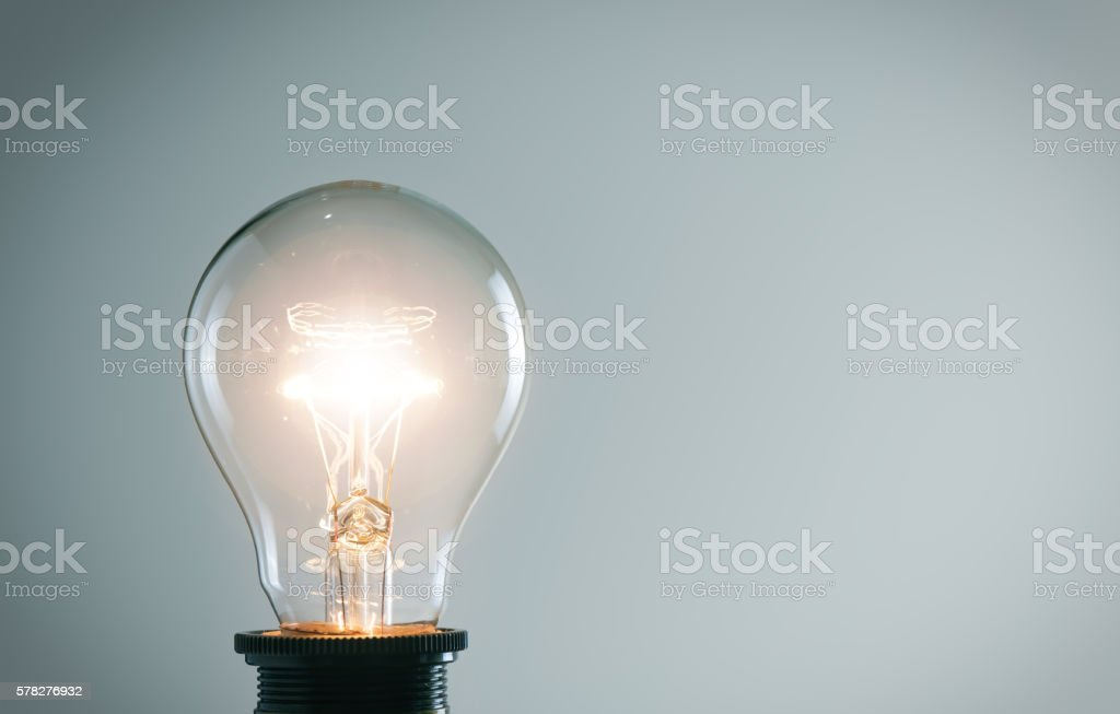 Лампа накаливания  стоковое фото