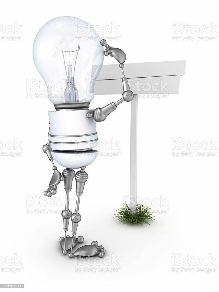 light bulb robot royalty-free stock photo