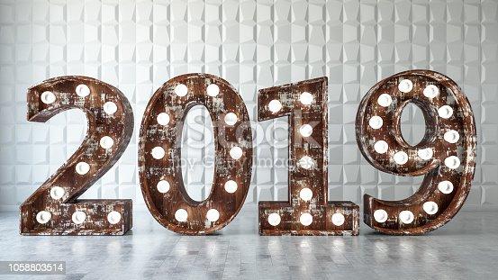 istock 2019 Light Bulb Sign Against White Geometric Wall 1058803514