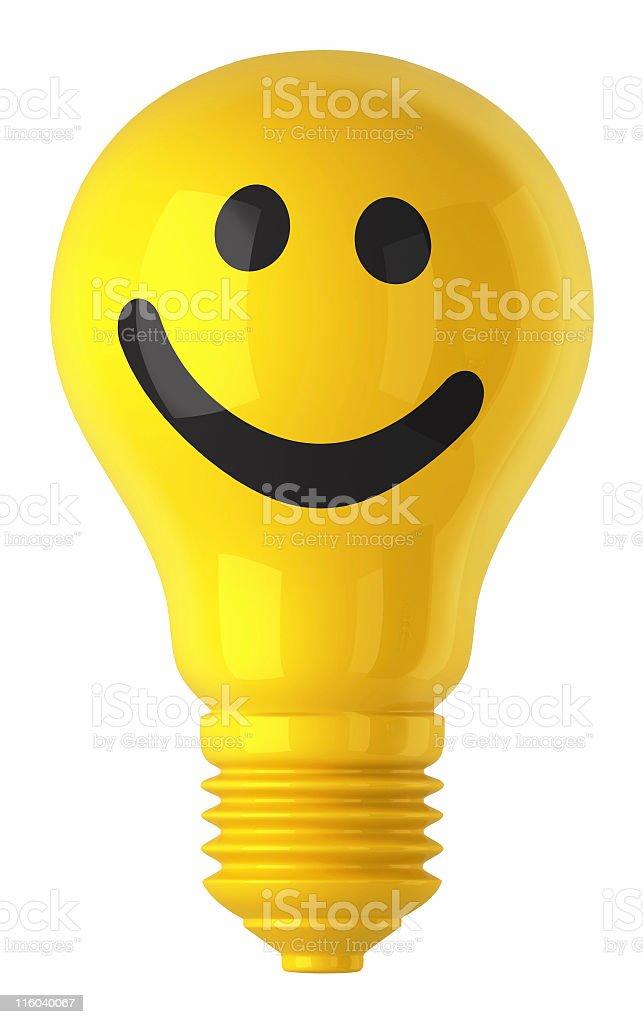 light bulb smile royalty-free stock photo