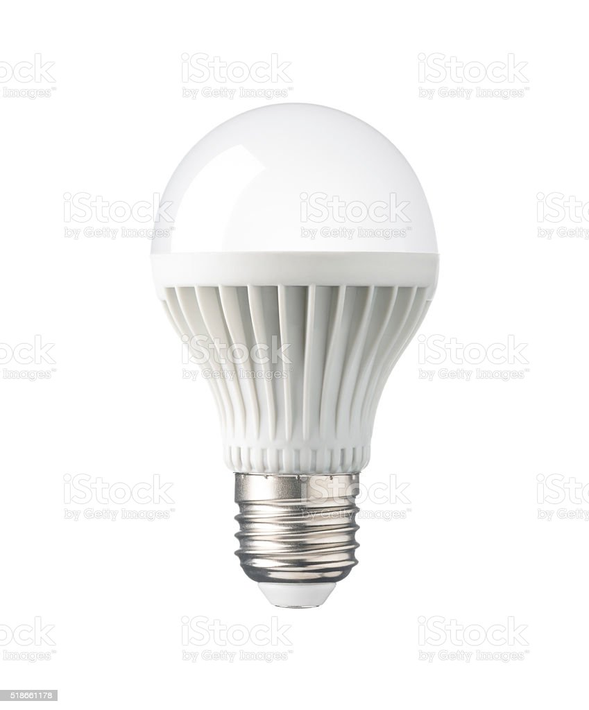 LED Light Bulb, Technology Electric Lamp For Saving Energy, Environment  Royalty Free Stock