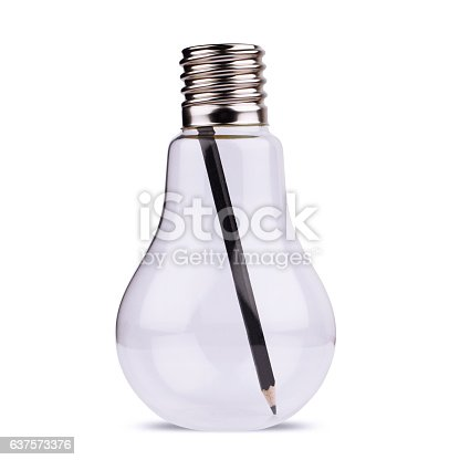 istock light bulb with black pencil inside on white 637573376