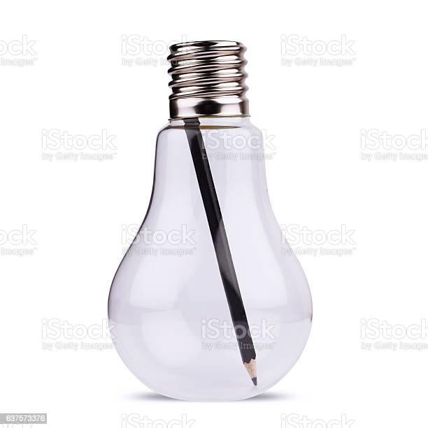 Light bulb with black pencil inside on white picture id637573376?b=1&k=6&m=637573376&s=612x612&h=6gapzrwc2eu vvqsvkdda8trzhcozdsuiledp yh6 s=
