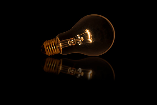 Light bulb with dim lighting without wired