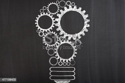 istock Light bulb with gears 477159420