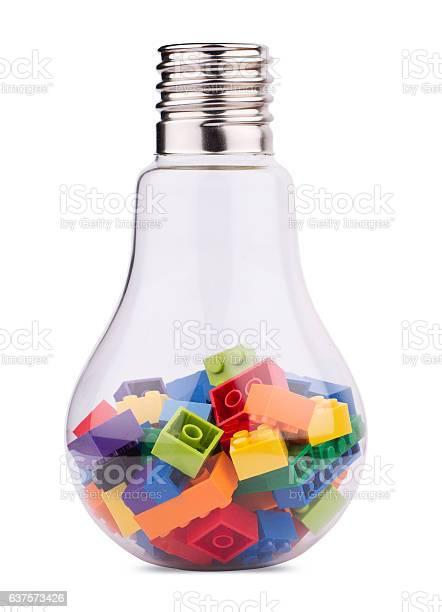 Light bulb with many toy colored construction blocks inside picture id637573426?b=1&k=6&m=637573426&s=612x612&h=9alcnznuro4b0c6ylfldszdqs htywbkpfjzyqqn5q0=