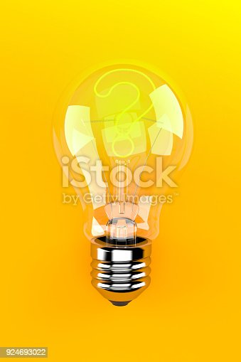 istock Light bulb with question mark 924693022