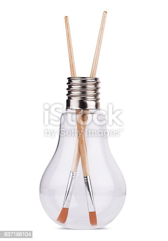 istock light bulb with two painting brushes inside on white 637166104