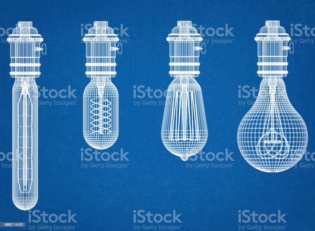 Glühbirnen-Architekt-Entwurf – Foto