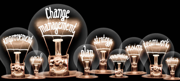 light bulbs concept - leadership stock pictures, royalty-free photos & images
