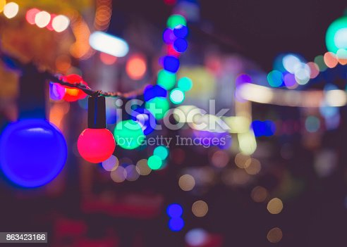 613897214istockphoto Light bulbs Party decoration Festival Event outdoor Holiday Background 863423166