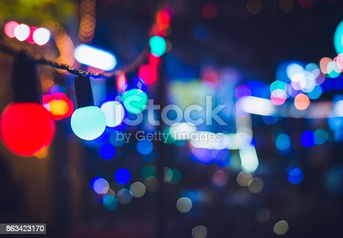 613897214istockphoto Light bulbs Party decoration Festival Event outdoor Holiday Background 863423170