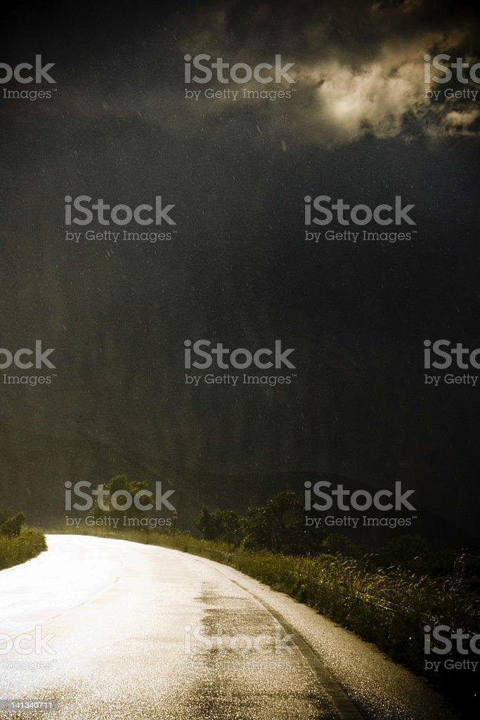 Light burst through storm clouds royalty-free stock photo
