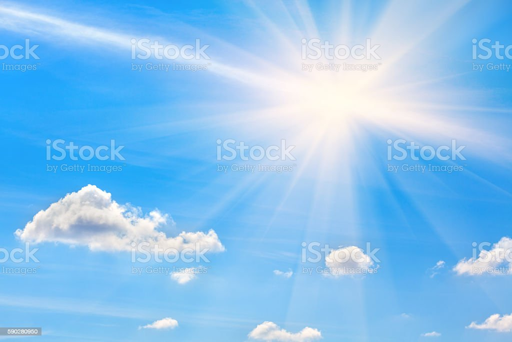 light clouds on the blue sky stock photo