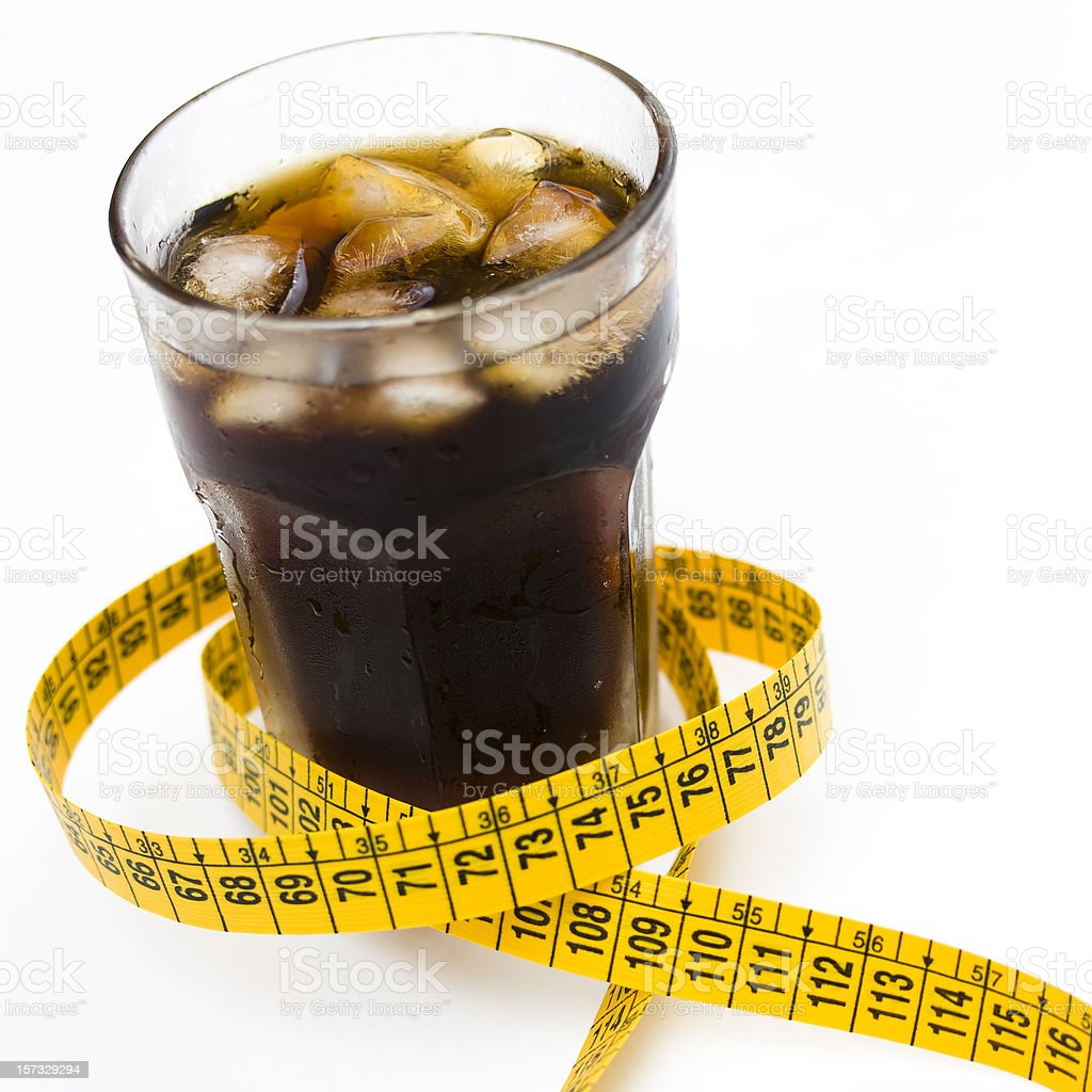 Light cola and diet royalty-free stock photo