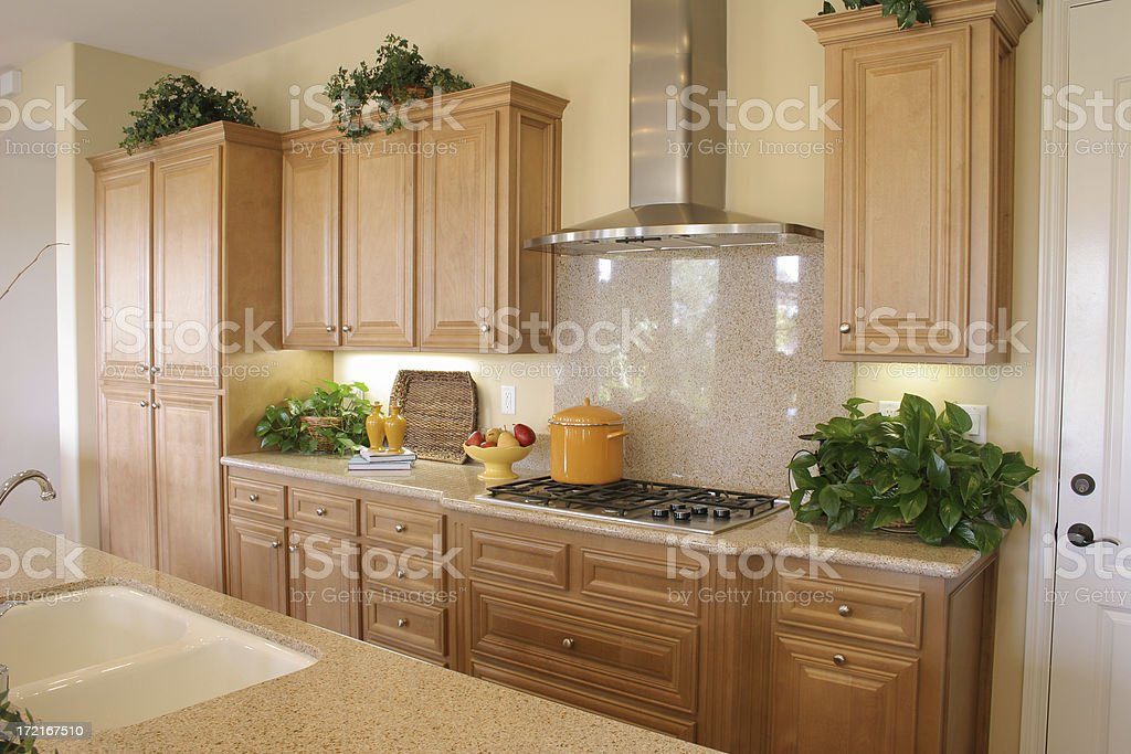 \'Picture of a kitchen with light colors throughout.If this picture is...