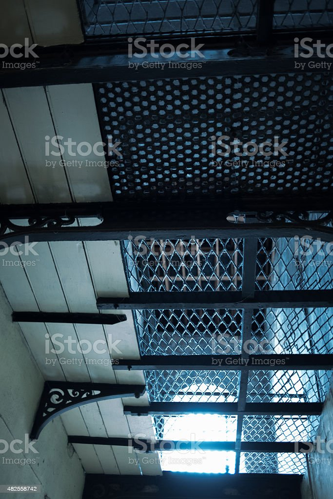 Light  coming into prison, giving hope stock photo