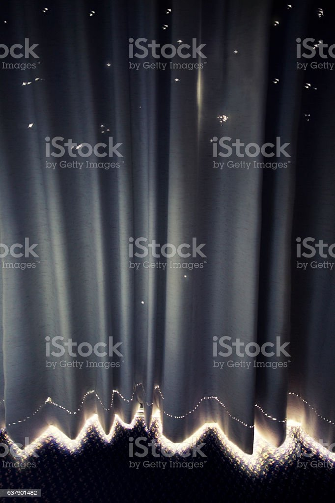 Light coming through curtain - Lizenzfrei Abstrakt Stock-Foto