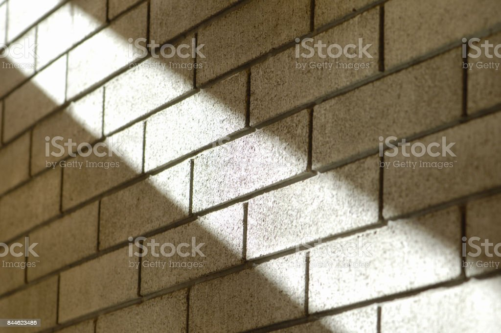 Light concrete block walls stock photo