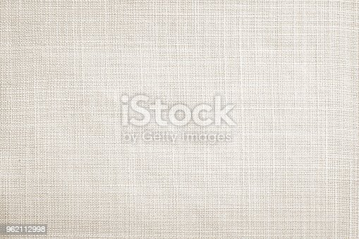 istock Light cream fabric texture background 962112998