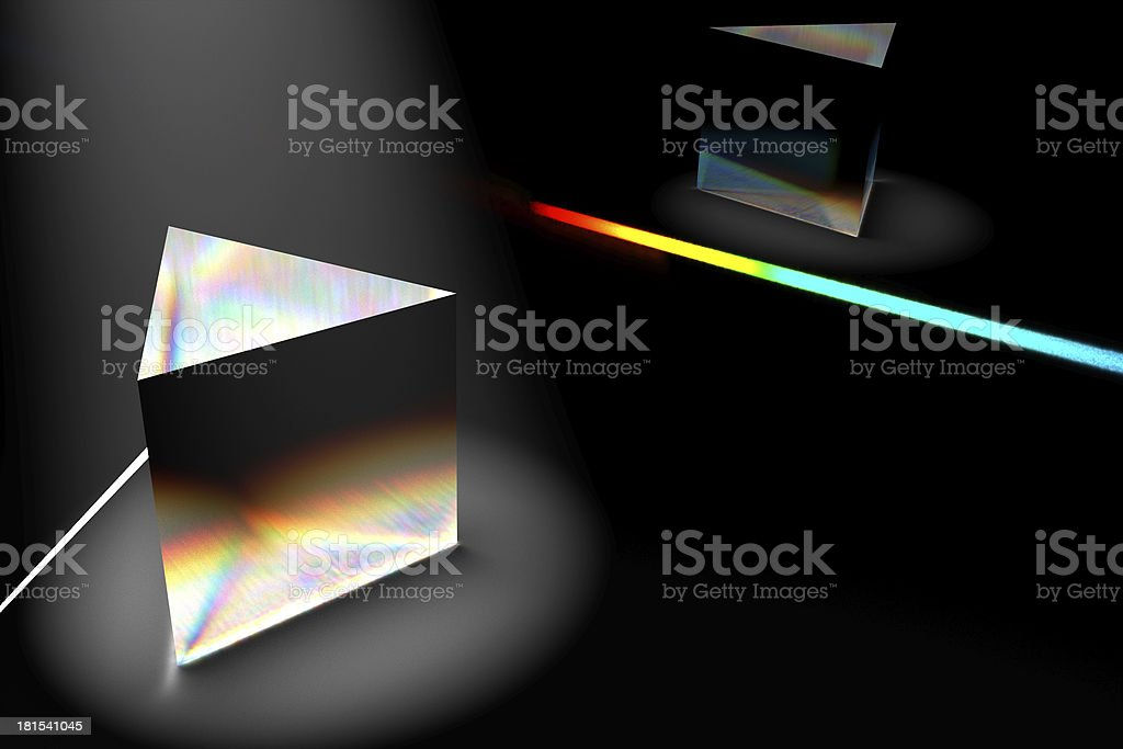 Light dispersion rendering stock photo