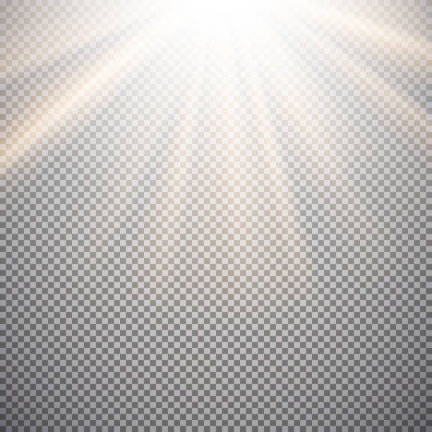 light effect on a checkered background - sole foto e immagini stock