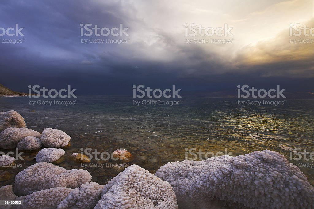 Light effects on the Dead Sea royalty-free stock photo