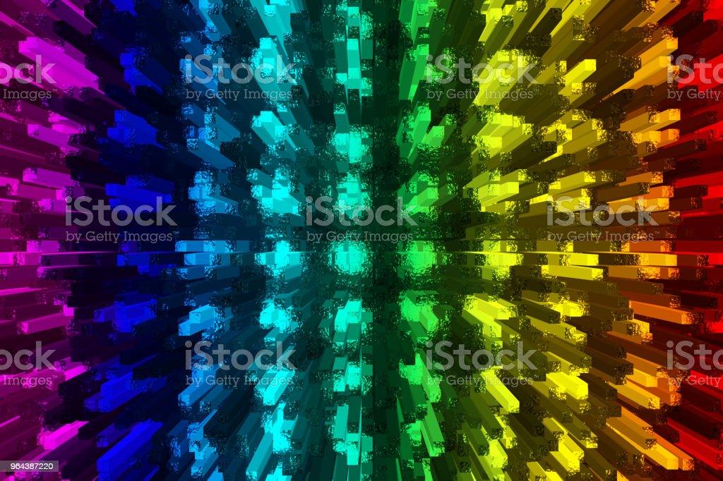 licht emitterende diodes - Royalty-free Blauw Stockfoto