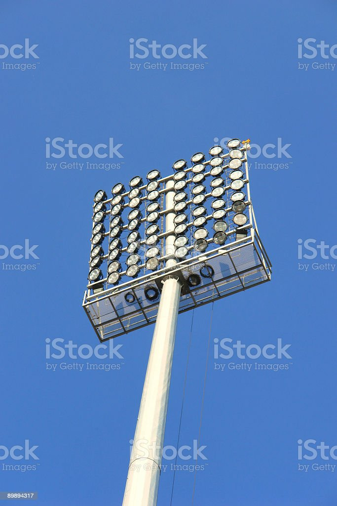 Light Equipment for a stadium royalty-free stock photo