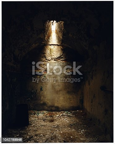 Light Escaping into an Abandoned Penitentiary