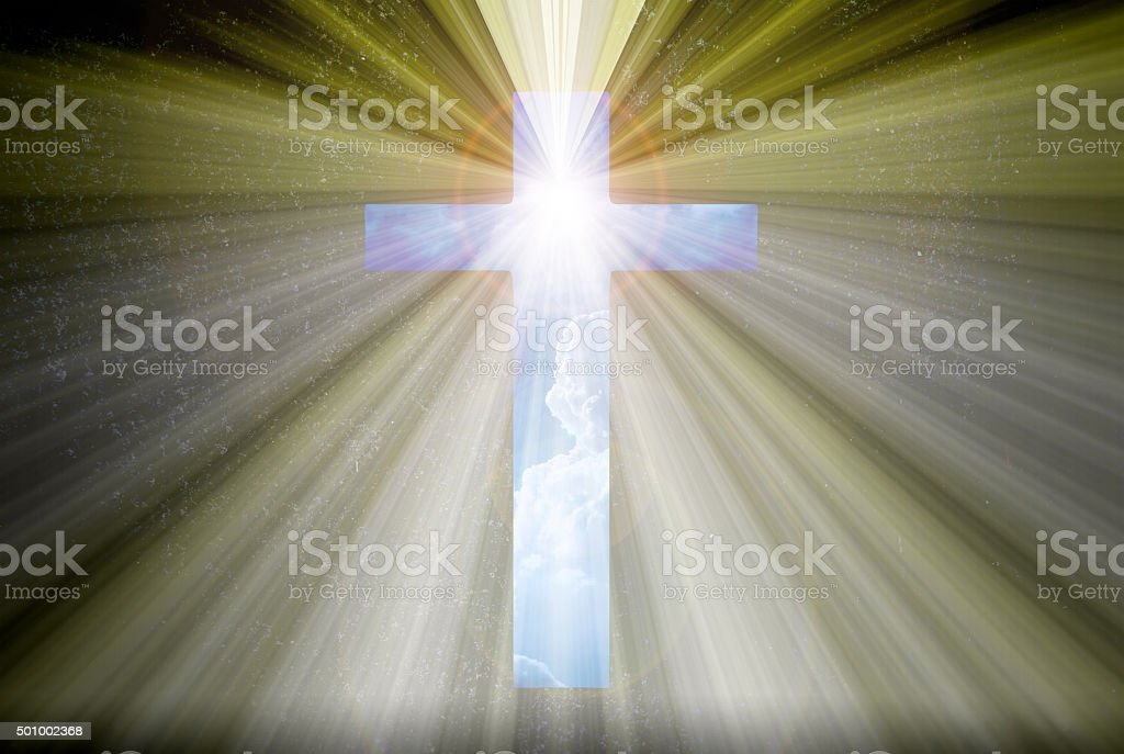 Light expel darkness concept background stock photo