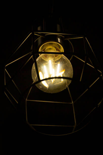Light fixture with a lamp stock photo