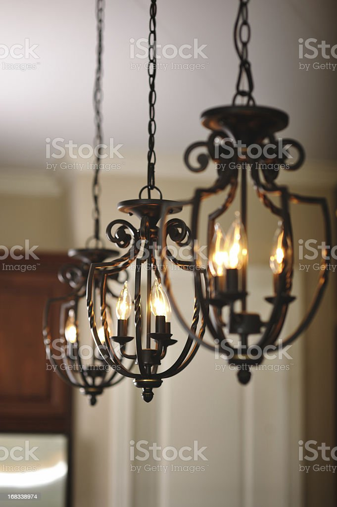 Light Fixtures in Home Interior stock photo
