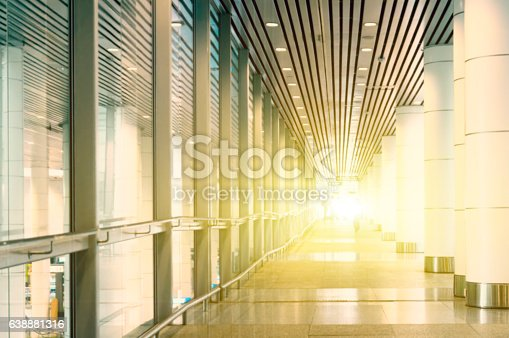 istock Light flare through the building 638881316