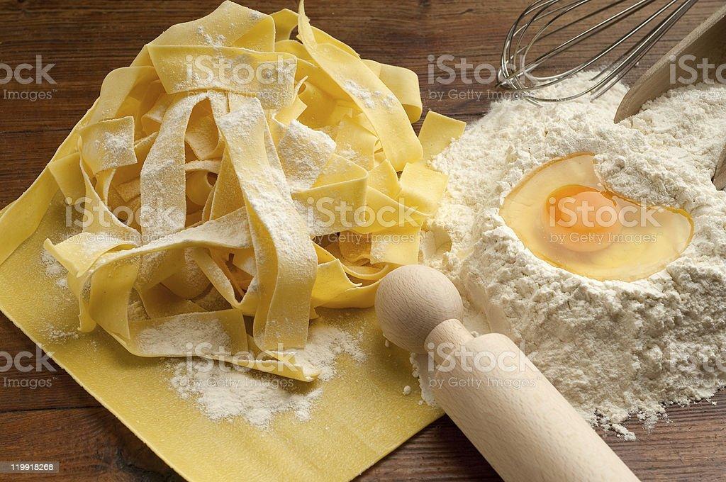 Zutaten für hausgemachte pasta – Foto
