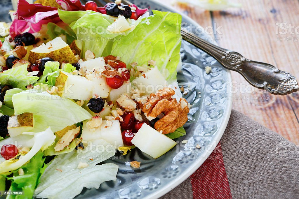 light fresh with fruits salad stock photo